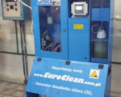 Dezynfekcja instalacji dwutlenkiem chloru