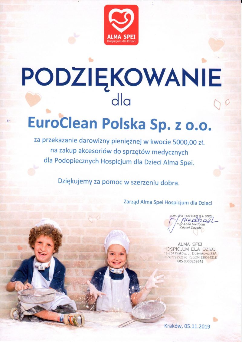 EuroClean Polska wspiera potrzebnych