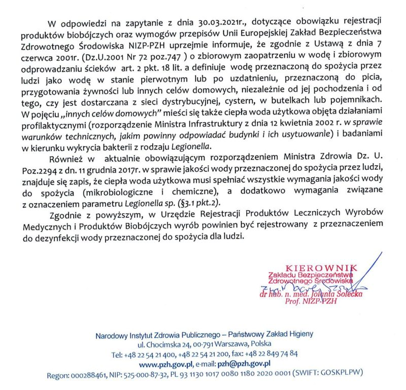 Rejestracja środków biobójczych